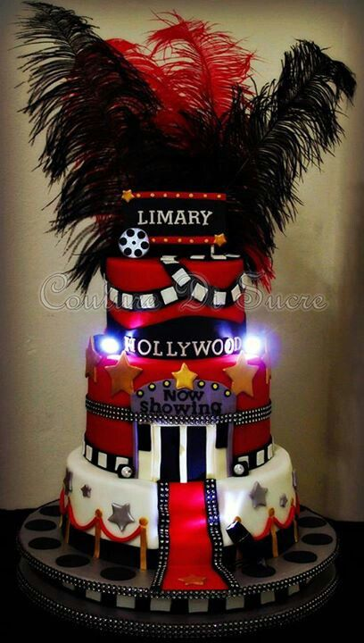 Hollywood cake! Great for a movie or red carpet party!