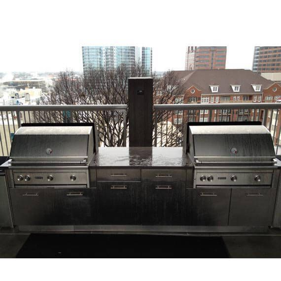 Danver Stainless Steel Cabinetry And Two Built In Gas Grills Create The  Perfect Spot For An Outdoor BBQ On This Apartment Roof Deck.