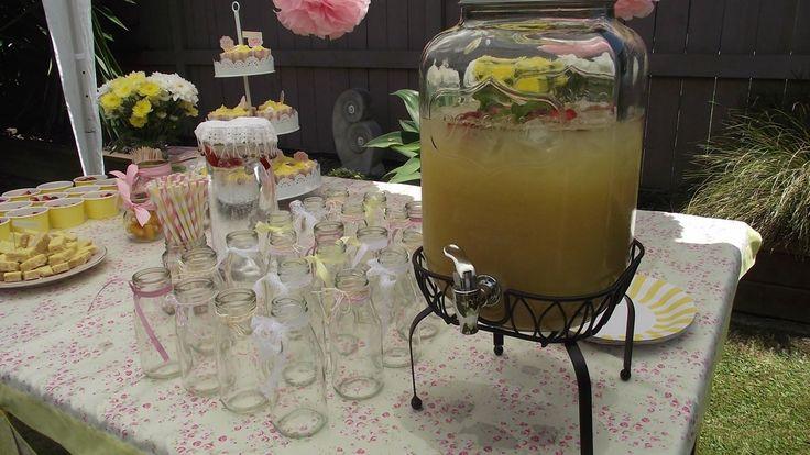 Homemade lemonade you are my sunshine 1st birthday