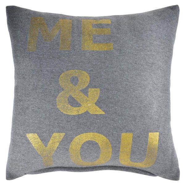 ME & YOU TYYNY - www.nemilla.fi #tyyny #kulta #tekstityyny
