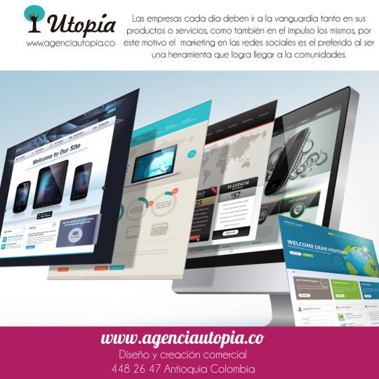 #AgenciaUtopia #Diseño #Medellín #Manejoderedes #Social #Designers #Design #Colombia