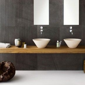 Lovely Luxurious Bathroom Designs by Neutra - Image 02 : Black Exquisite Stone Bathroom