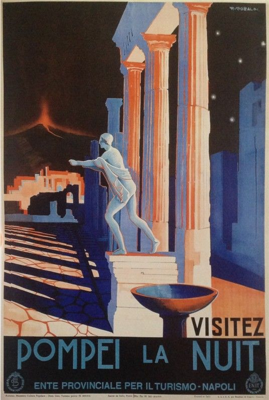 Poster   Pompeii - Napoli / Naples - Campania The ruins of the ancient Roman cities of Pompeii and Herculaneum were buried by the eruption of Vesuvius in 79 B.C., but they still offer an unparalleled window into the quotidian life of classical antiquity.