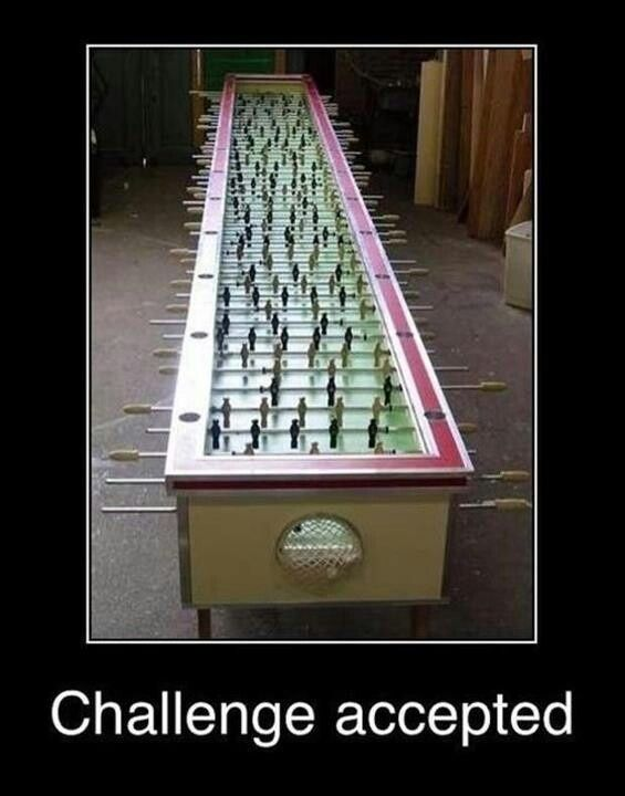 15 hilarious 'challenge accepted' moments Ultimate Foosball