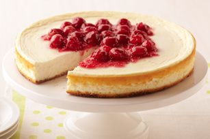 Cherry Cheesecake Made Over #kraftrecipes      A Healthy Living Dessert  140 Calories