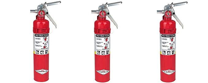 Amerex B417 2 5lb Abc Dry Chemical Class A B C Fire Extinguisher With Wall Bracket 3 Pack Extinguisher Fire Extinguisher Fire Systems