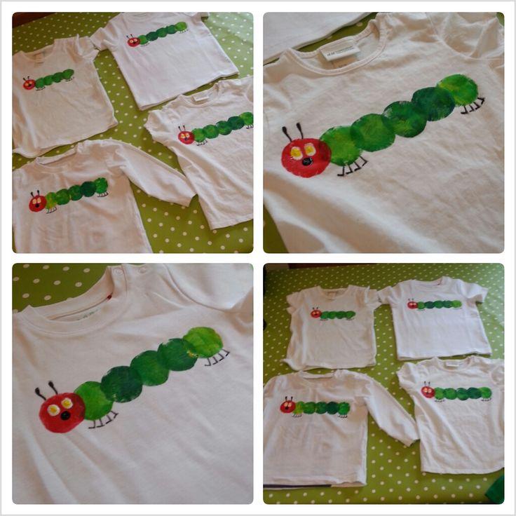 DIY: Caterpillar Nimmersatt Shirt   – Frederick