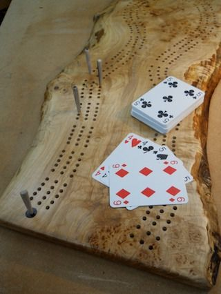 Decorative cribbage board- love the things you can do with cribbage boards!
