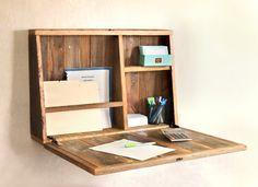 Menú desplegable Secreter - montado en la pared - escritorio para espacios pequeños - Secreter