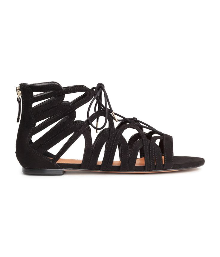 Open-toe lace up sandals | H&M Shoes