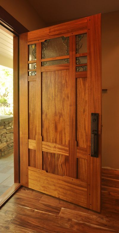 Door by Craftsman Door Company - Art Glass by Theodore Ellison Designs   Love this