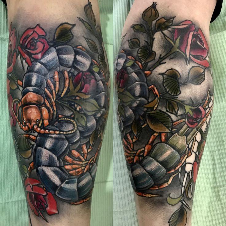 #왕지네✔️#centipede -지네컬러 외에는 발색후입니다 - 타투상담&문의: 카톡:qpqpgi / 010.9078.7474 Tattoo machines by @cstattoomachine