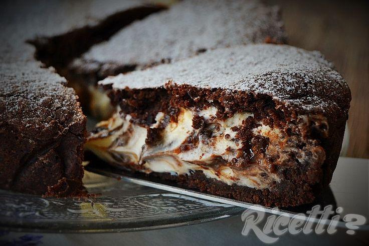 Torta morbida al cacao con ricotta e mascarpone