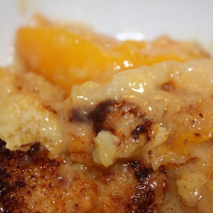 Dump Peach Cobbler Recipe | Just A Pinch Recipes