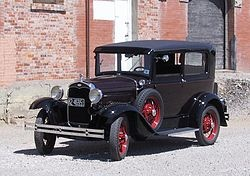 The Model A was the first FORD MOTOR COMPANY vehicle produced. This is a 1931 Model A Deluxe Tudor Sedan