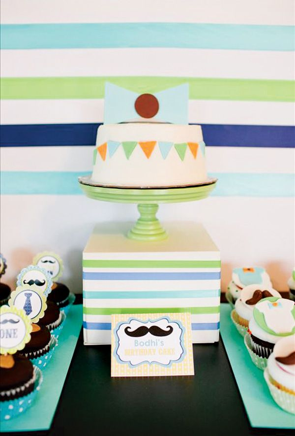 Little Man First Birthday Party Mustache Bash