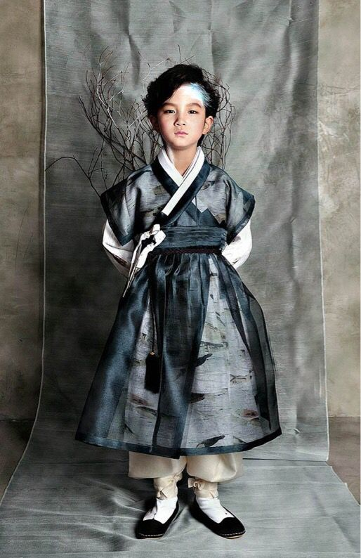 A boy in a hanbok