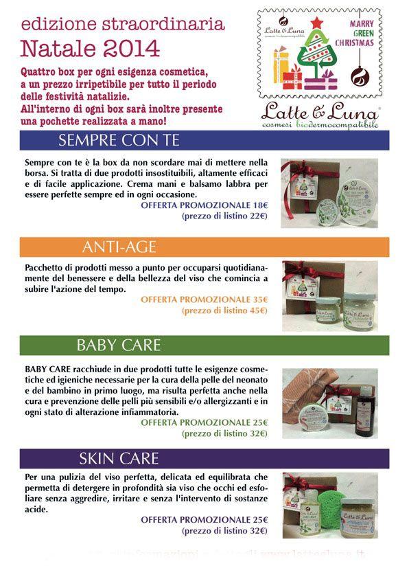 Latte & Luna Promozione Box Natale 2014 http://www.quirquir.com/shop/index.php?id_manufacturer=9&controller=manufacturer&id_lang=1