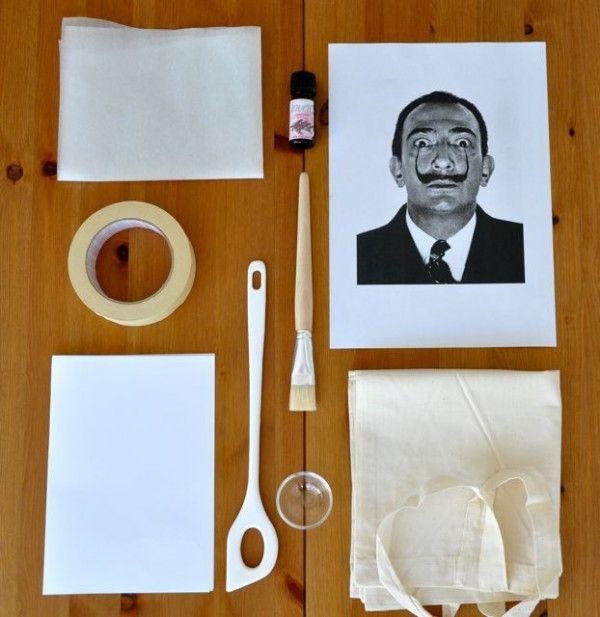 Lavendeldruck auf Stoff1Vorbereitung2Einstreichen mit Öl3Übertragen des Motivs4Fertigstellen5Über das gelungene Ergebnis freuen :-D !6Nachtrag - der