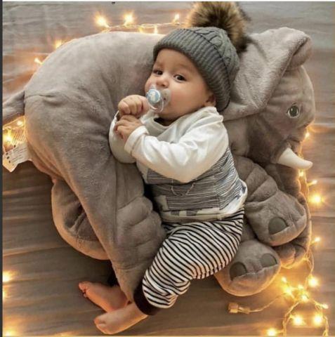 Plush Elephant Pillow Toy – Cozy Nursery