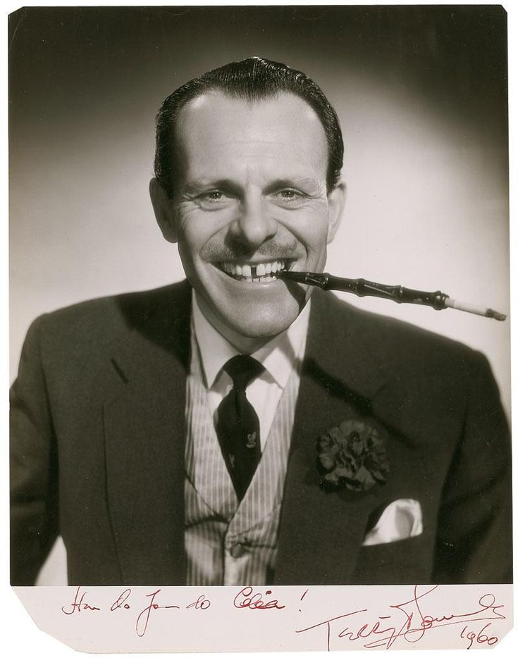 """Terry-Thomas 1911 - 1990. 78; comedian, character actor. He was famous for his portrayal of disreputable members of the upper classes, especially cads, toffs and bounders, with the trademark gap in his front teeth, cigarette holder, smoking jacket and catch-phrases such as """"What an absolute shower!"""", """"Good show!"""", """"You dirty rotter"""" and """"Hard cheese"""". autobiography Filling the Gap 1990."""