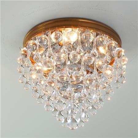 Crystal ball wedding cake ceiling light