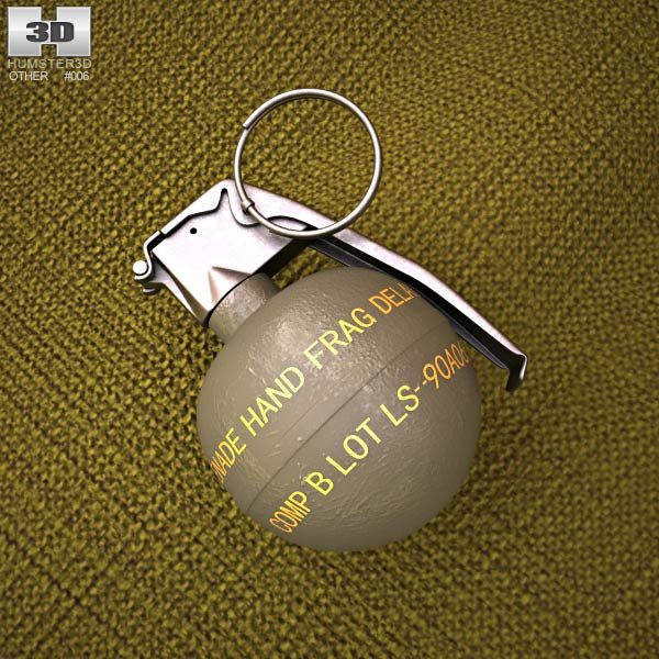 M67 Grenade 3d model from humster3d.com. Price: $25