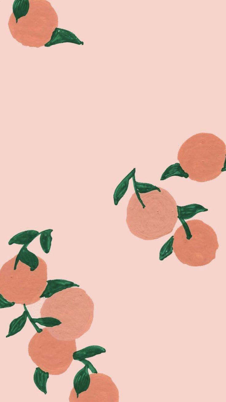 #aesthetic wallpaper iphone pastel peach in 2020 | Cute ...