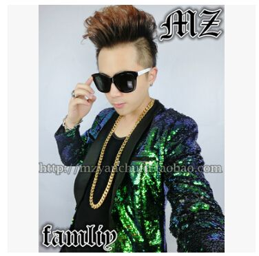 Cheap jacket nylon, Buy Quality jacket new directly from China suits you sexy swimwear Suppliers: HOT Mens Singer Coat DJ Right Zhi Long GD Paris Week long Section Of The Same Paragraph Green Sequined Suit