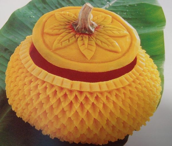 Outstanding fruit carvings food art pinterest