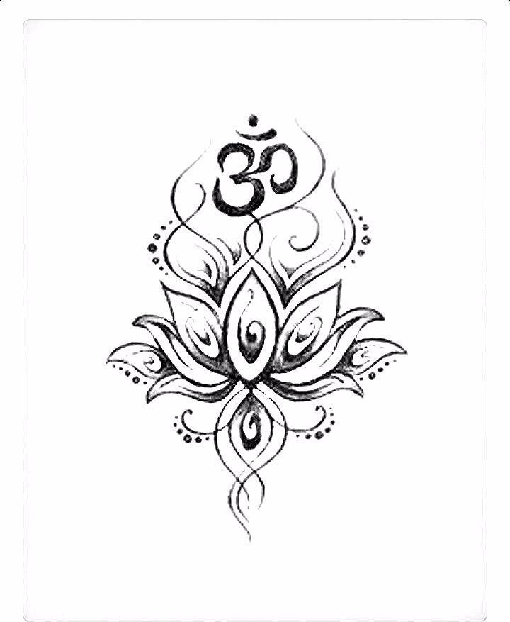 Collection Of 25 Hindu Ohm And Lotus Design Lotus Mandala Tattoo Lotus Tattoo Design Lotus Flower Henna