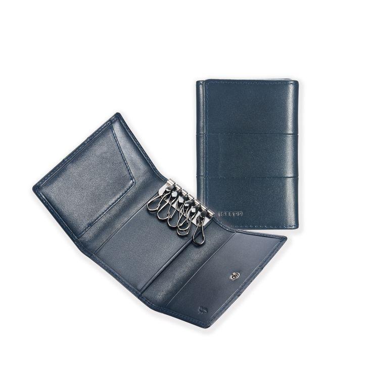 14 Tri-fold Key Wallet _ Blue
