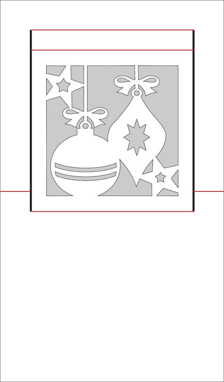 новогодняя открытка в стиле киригами шаблон участков мировых