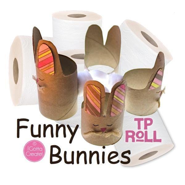 DIY easter crafts DIY TP Roll Funny Bunnies DIY easter crafts