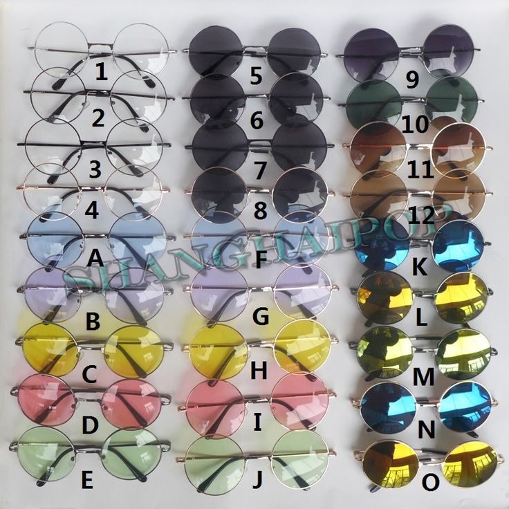 Mirror Clear Lens Round Sunglasses Glasses Shades Vintage Hipster Penny Classic | eBay