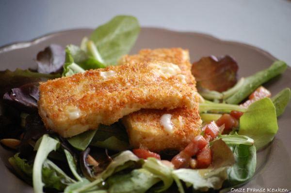 Salade met gebakken Brie - Onze Franse keuken