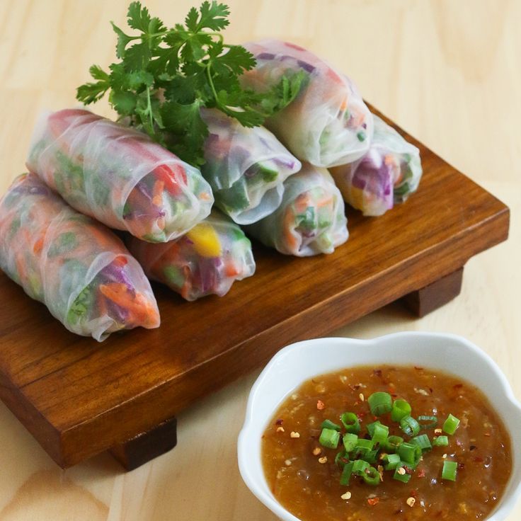 Rainbow Spring Rolls - such a fresh and yummy option for lunch or dinner!
