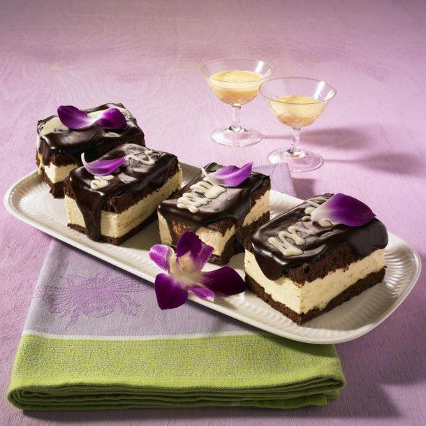 Unser beliebtes Rezept für Schokoladen-Eierlikör-Schnitten und mehr als 55.000 weitere kostenlose Rezepte auf LECKER.de.