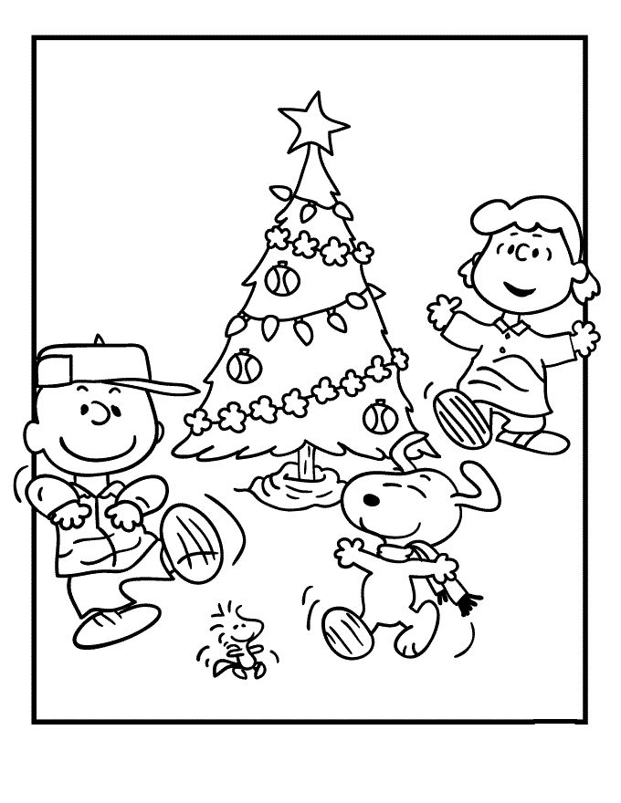 merry christmas charlie coloring pages - photo#26