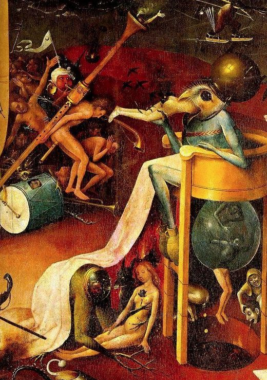 Garden of Earthly Delights detail,Hieronymous Bosch, Image via en.wikipedia.org/wiki/List_of_paintings_by_Hieronymus_Bosch