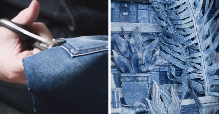 "This Artist ""Paints"" With Denim 