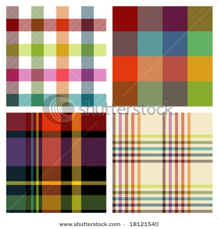 vector repeat tartans / checks via shutterstock