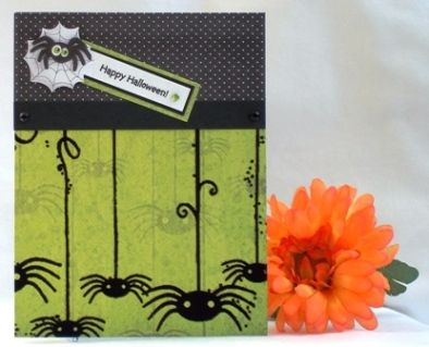 try a halloween card idea with a spider theme for halloween card designs homemade card ideas to make halloween cards can include spider stickers too - Handmade Halloween Cards Pinterest