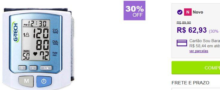 Aparelho Medidor de Pressão Digital Pulso RW450 - G-tech << R$ 5663>>