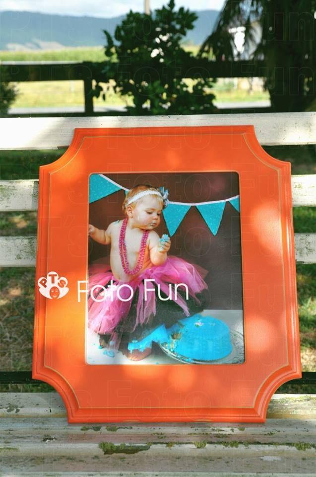 Chloe -Smash the Cake framed in Pumpkin Lewis Organic Bloom