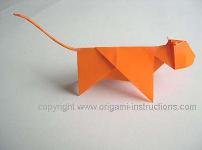 completed origami tiger