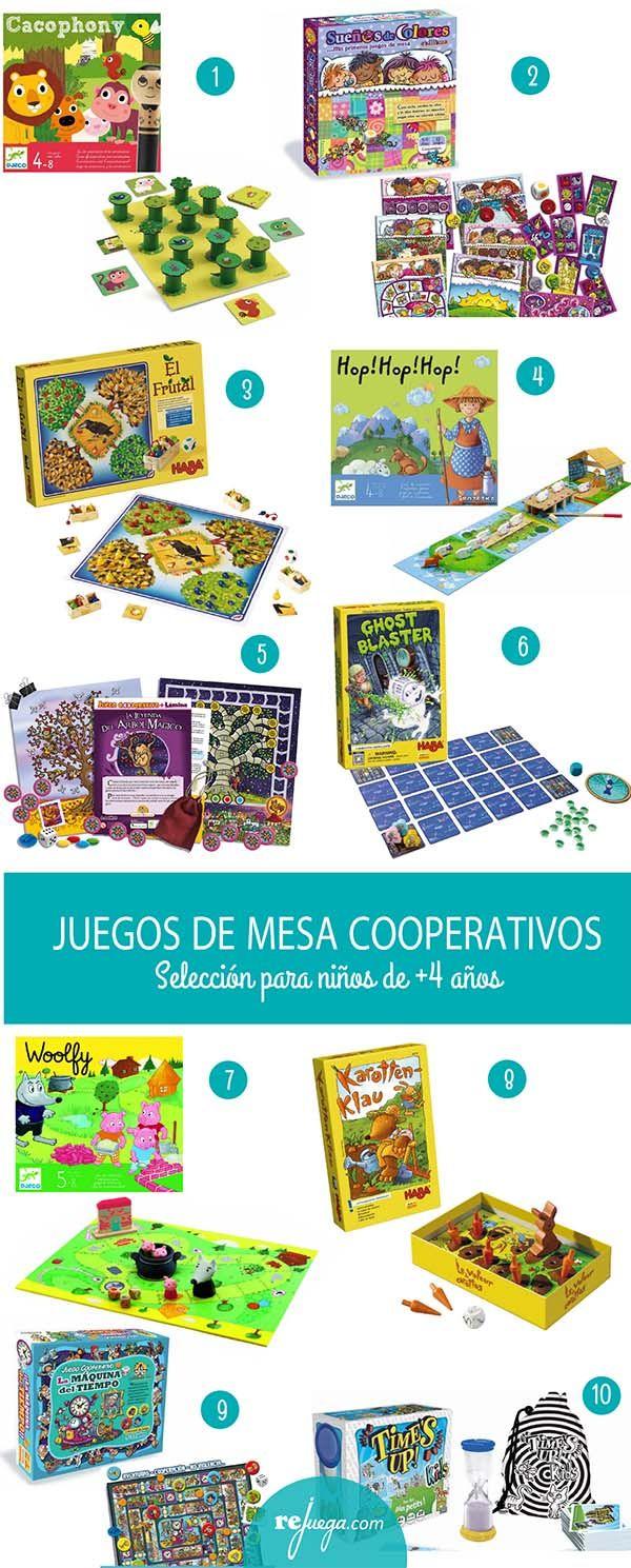 juegos de mesa cooperativos para niños de más de 4 años