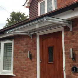 Stainless steel modern door canopy in a range of sizes & 7 best Glass Door Canopy images on Pinterest | Canopies Glass doors ...
