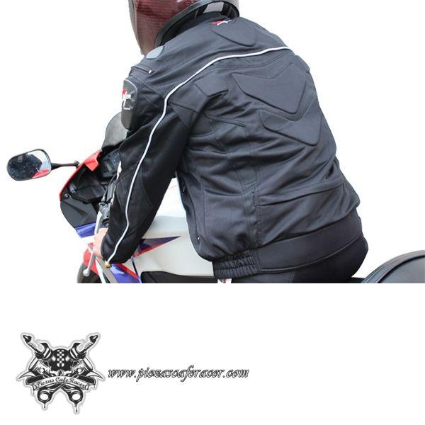 """91,4€ - ENVÍO GRATIS - Chaqueta de Piloto Moto con Protecciones Modelo """"FULL-PROTECTION"""" Color Negro"""