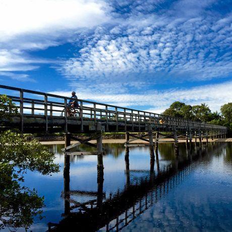 TAKE ME TO THE RIVER: The iconic Brunswick Heads footbridge. Photo Christian Morrow / Byron Shire News